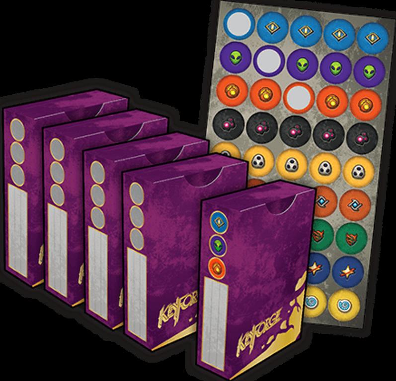 KeyForge: Worlds Collide - Premium Box partes