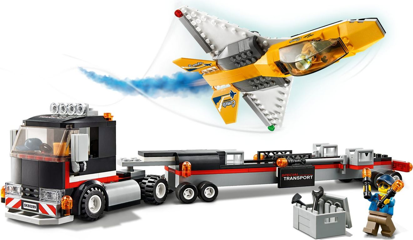 LEGO® City Airshow Jet Transporter gameplay