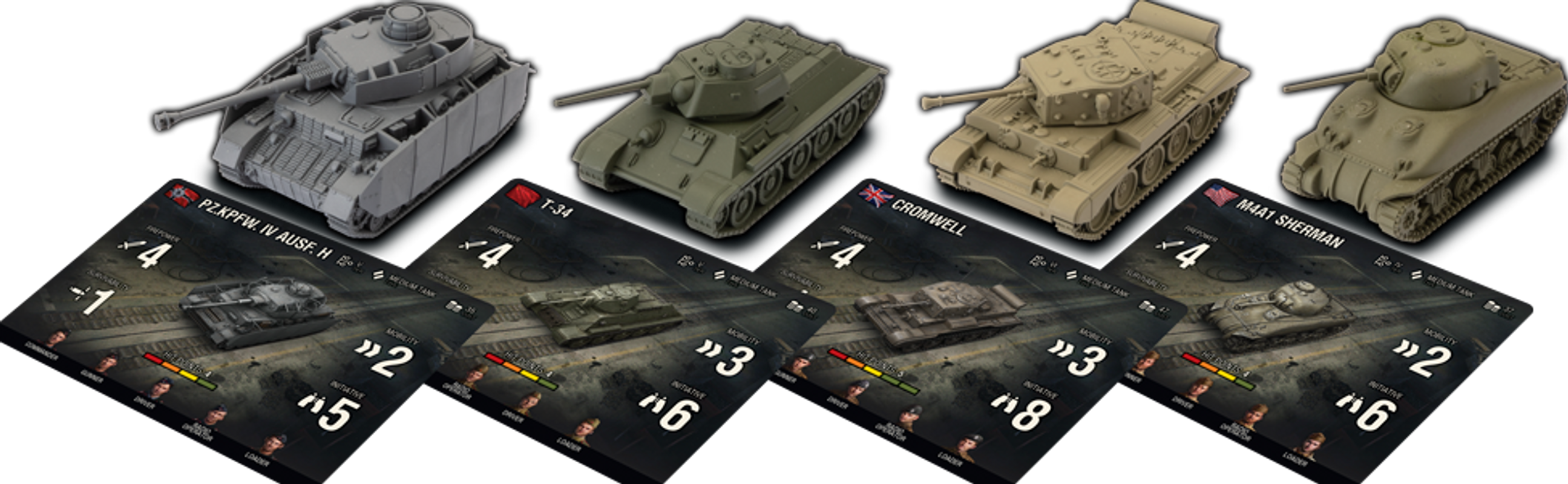 World of Tanks: Miniatures Game miniatures