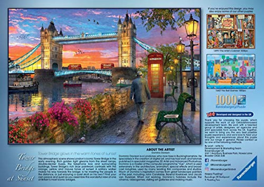 Tower Bridge of London at Sunset back of the box