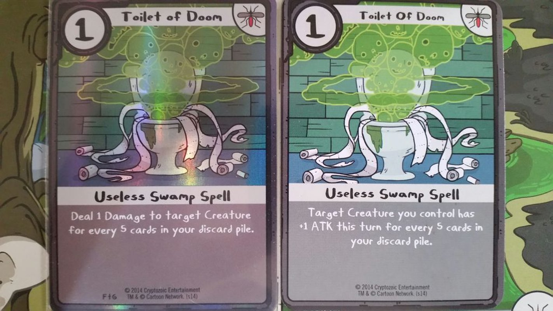 Adventure Time Card Wars: Princess Bubblegum vs. Lumpy Space Princess cards