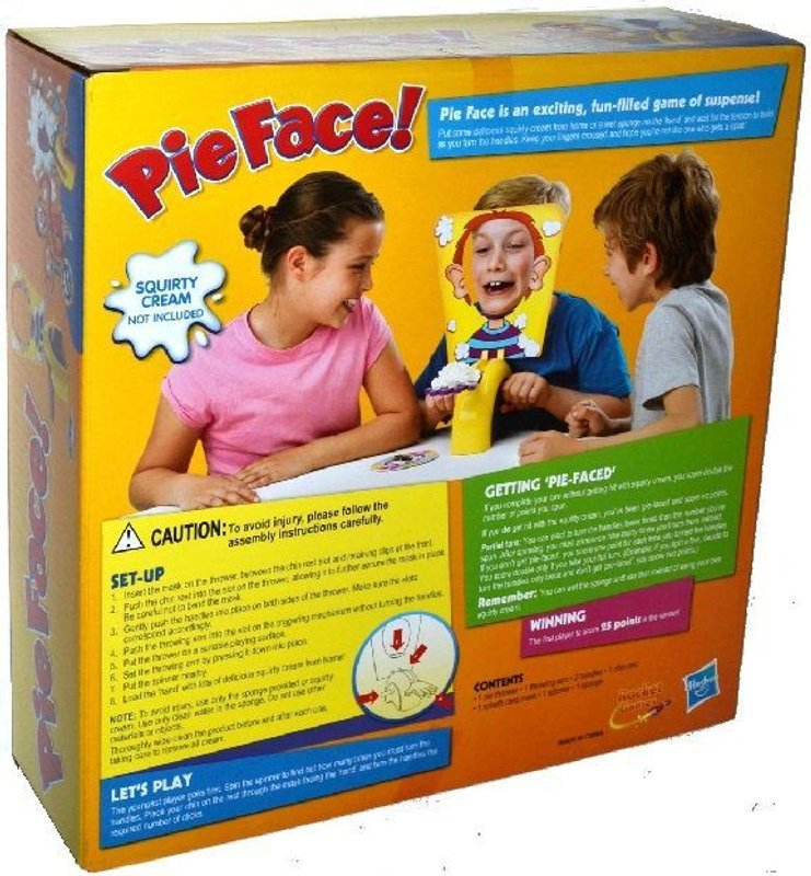 Pie Face back of the box