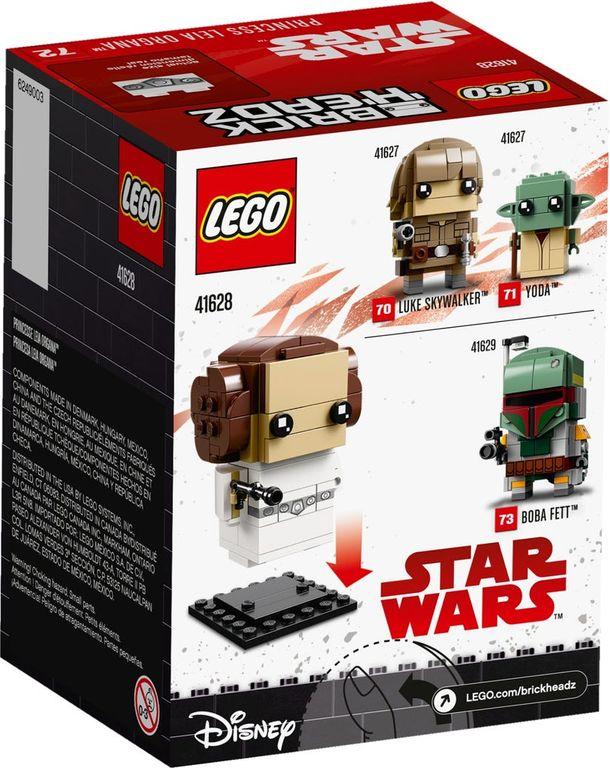 LEGO® BrickHeadz™ Princess Leia Organa™ back of the box
