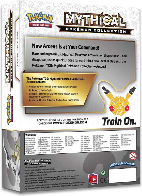 Arceus Mythical Pokémon Collection back of the box