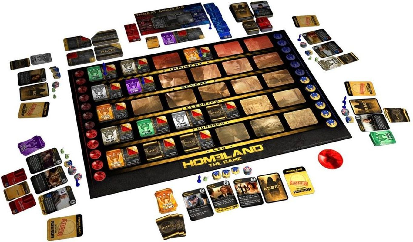 Homeland: The Game components