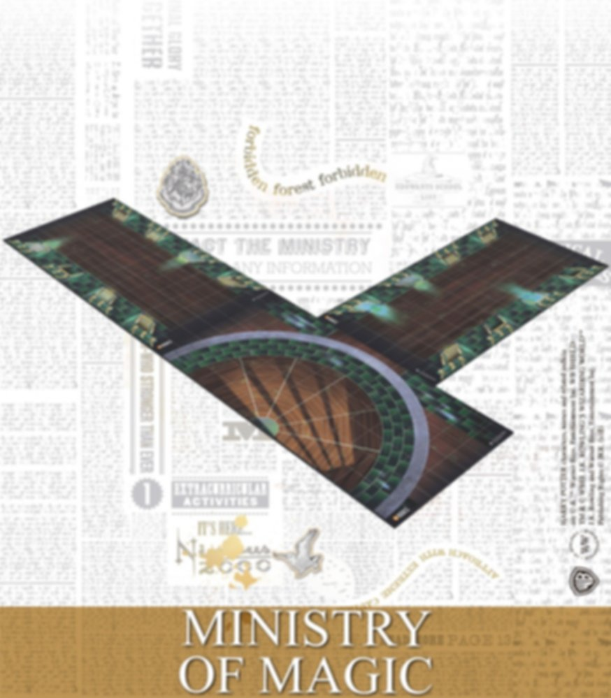 Harry Potter Miniatures Adventure Game: Ministry of Magic and Prophecy Room components