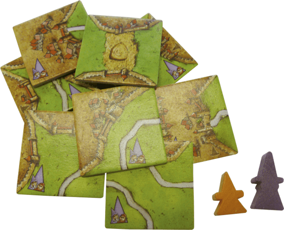 Carcassonne: Mage & Witch components