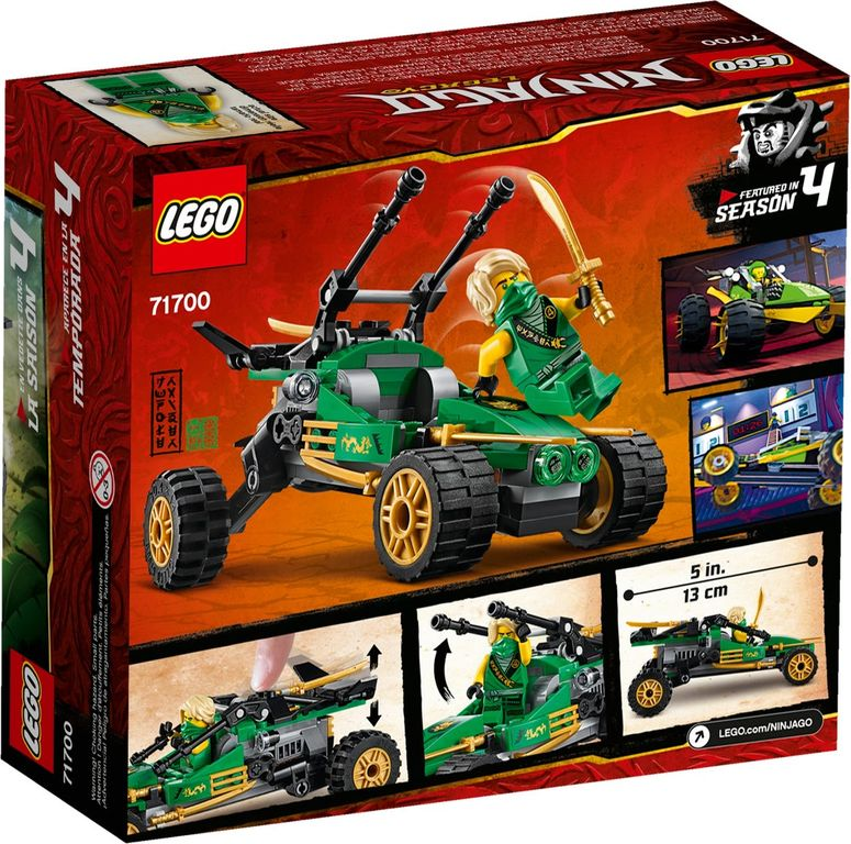 LEGO® Ninjago Jungle Raider back of the box