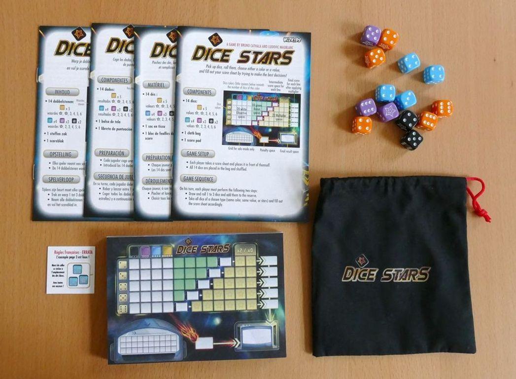 Dice Stars components