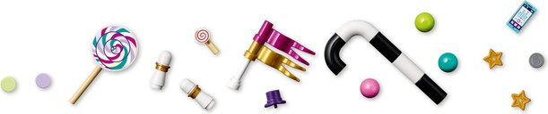LEGO® Friends Magical Ferris Wheel and Slide components