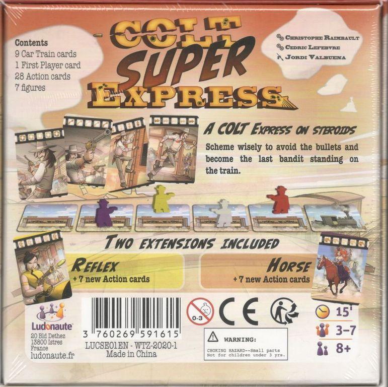 Colt Super Express back of the box