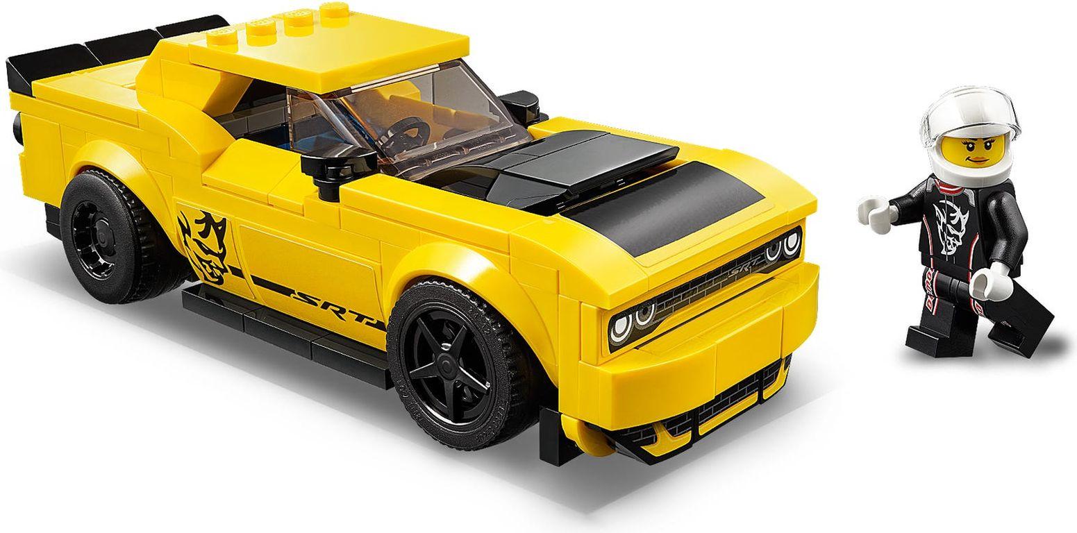 LEGO® Speed Champions 2018 Dodge Challenger SRT Demon en 1970 Dodge Charger R/T components