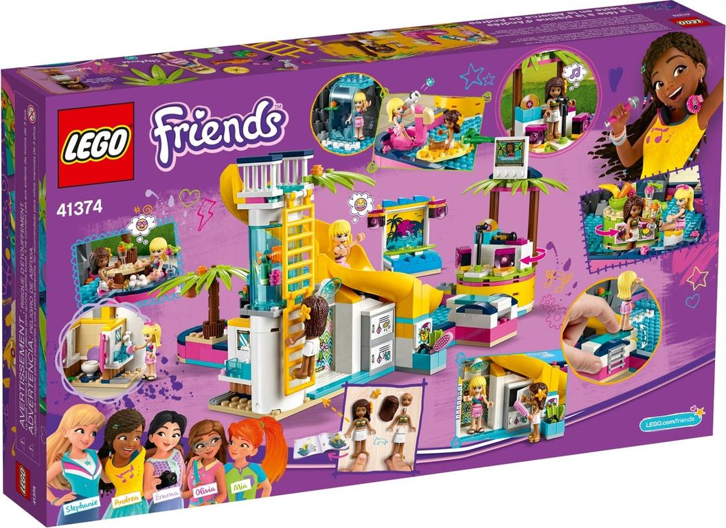 LEGO® Friends Andrea's Pool Party back of the box