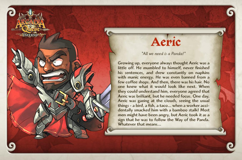 Arcadia Quest: Aeric card