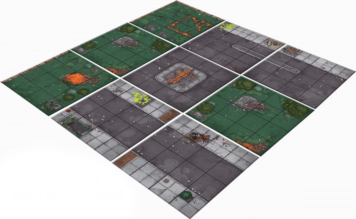 Ghostbusters: The Board Game game board