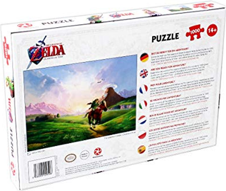 The Legend of Zelda - Ocarina of Time back of the box