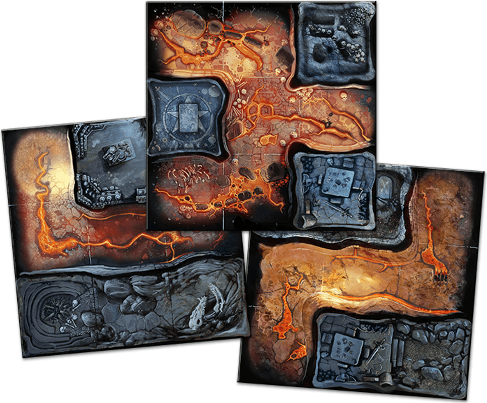 Massive Darkness: A Quest of Crystal & Lava tiles
