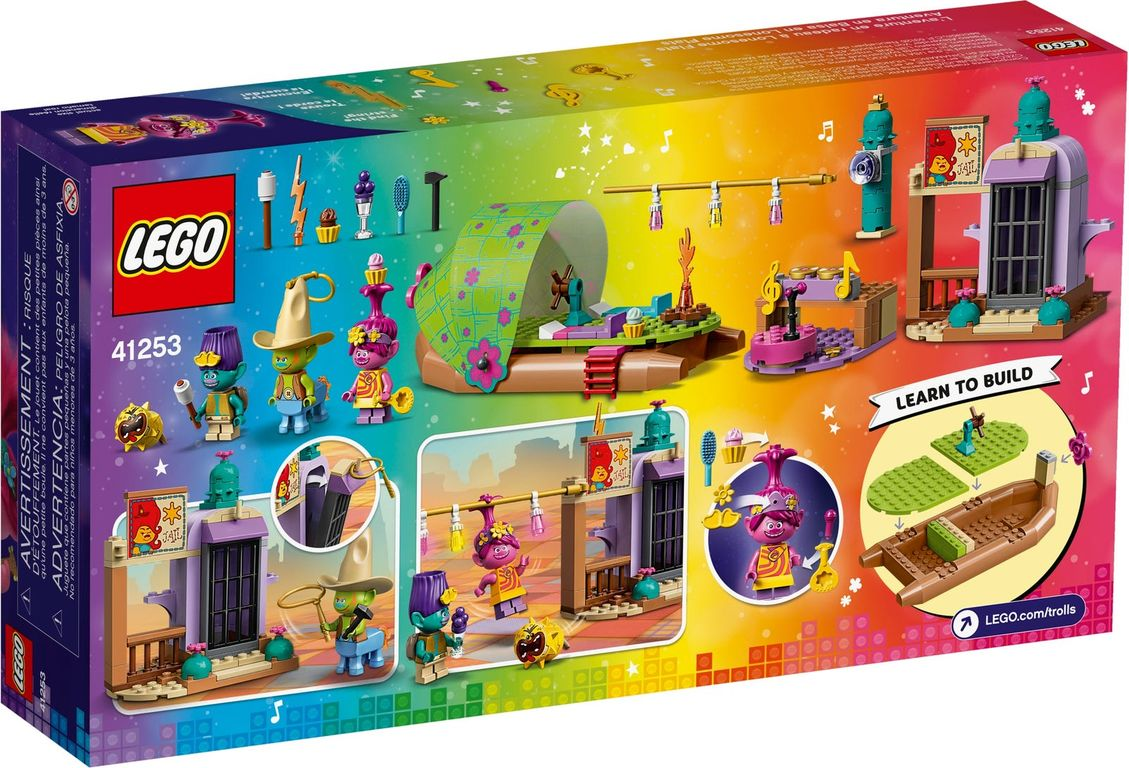 LEGO® Trolls Lonesome Flats Raft Adventure back of the box