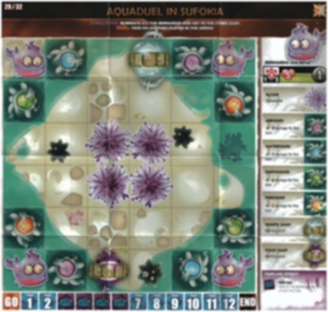 Krosmaster: Arena - Fire and Ice game board