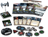Star Wars: X-Wing Miniatures Game - Inquisitor's TIE Expansion Pack components