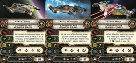 Star Wars: X-Wing Miniatures Game - Shadow Caster Expansion Pack cards