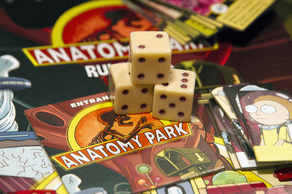 Rick and Morty: Anatomy Park - The Game dice