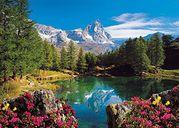Bergsee mit Matterhorn