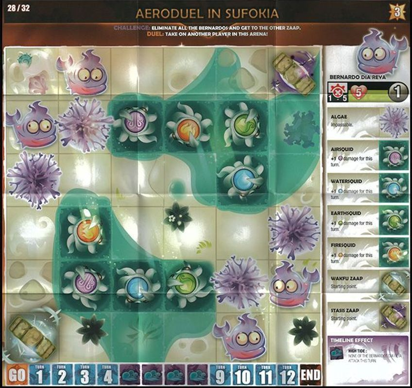 Krosmaster: Arena - Earth and Wind game board