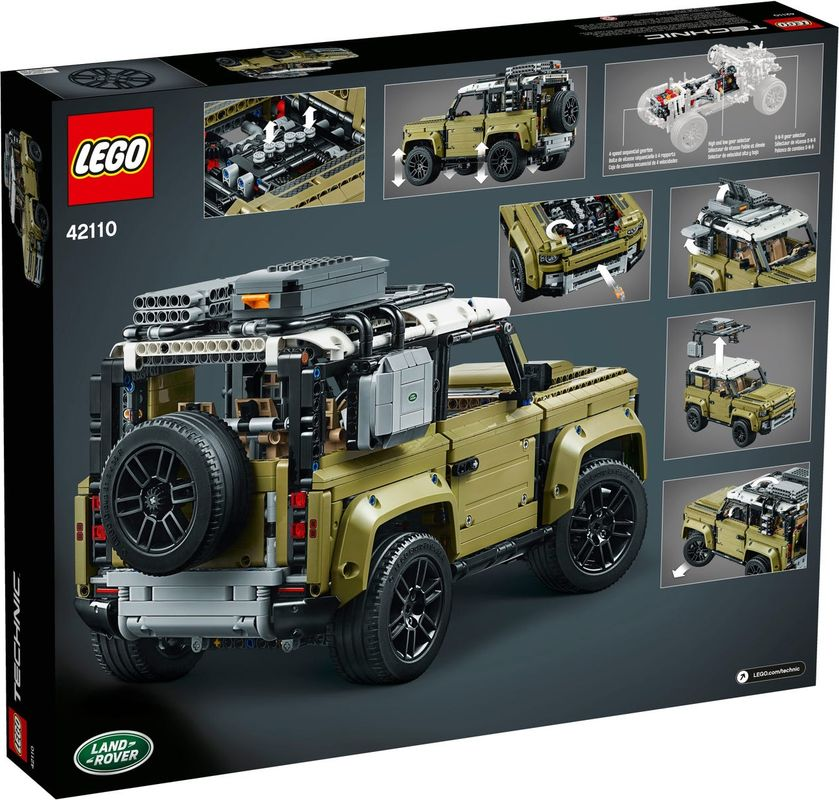Land Rover Defender back of the box
