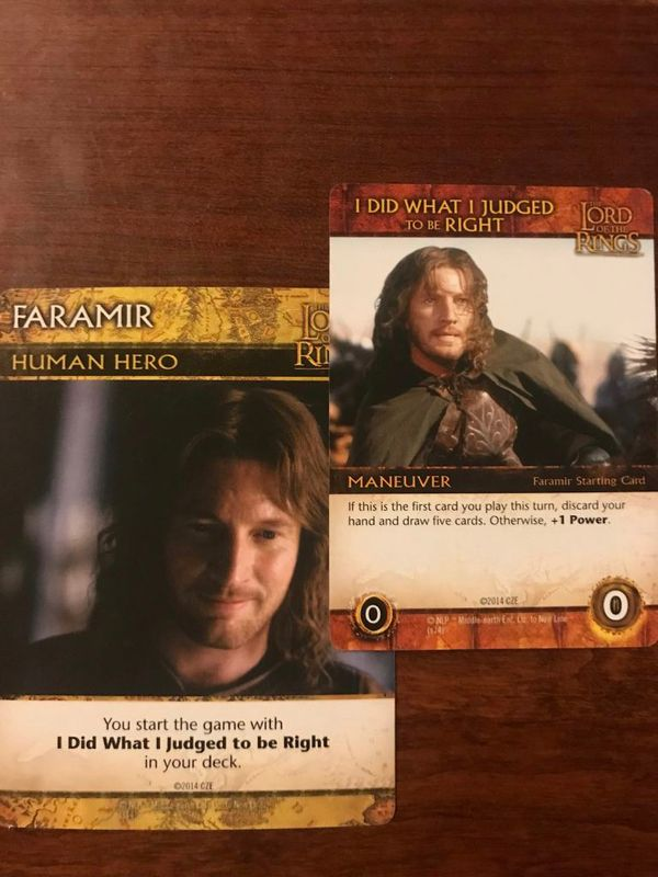 The Lord of the Rings: The Return of the King Deck-Building Game cards