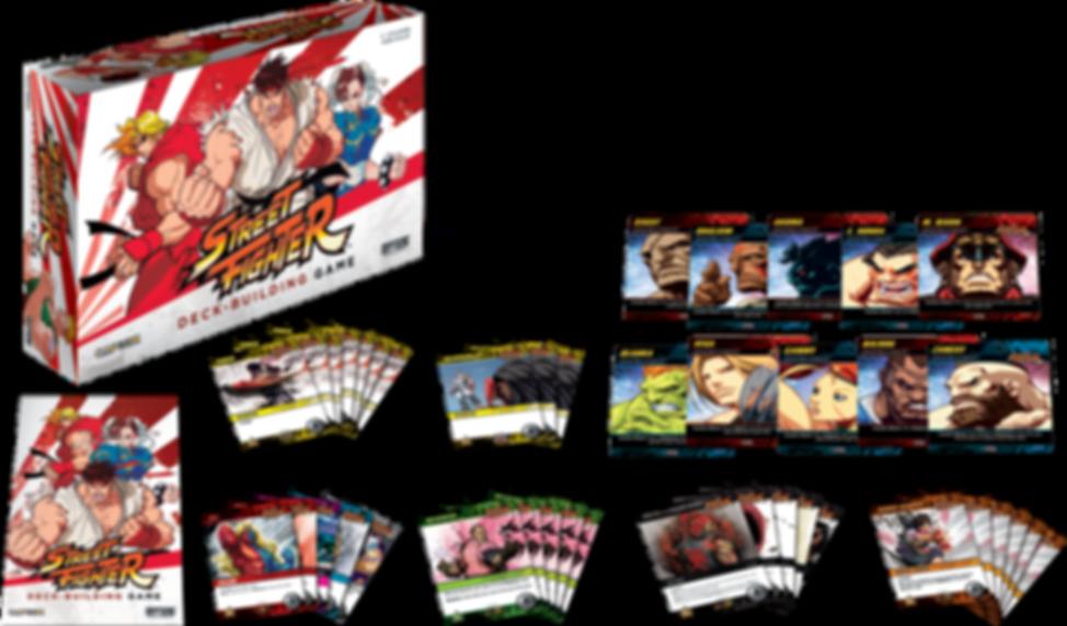 CapCom Street Fighter Deck-Building Game components