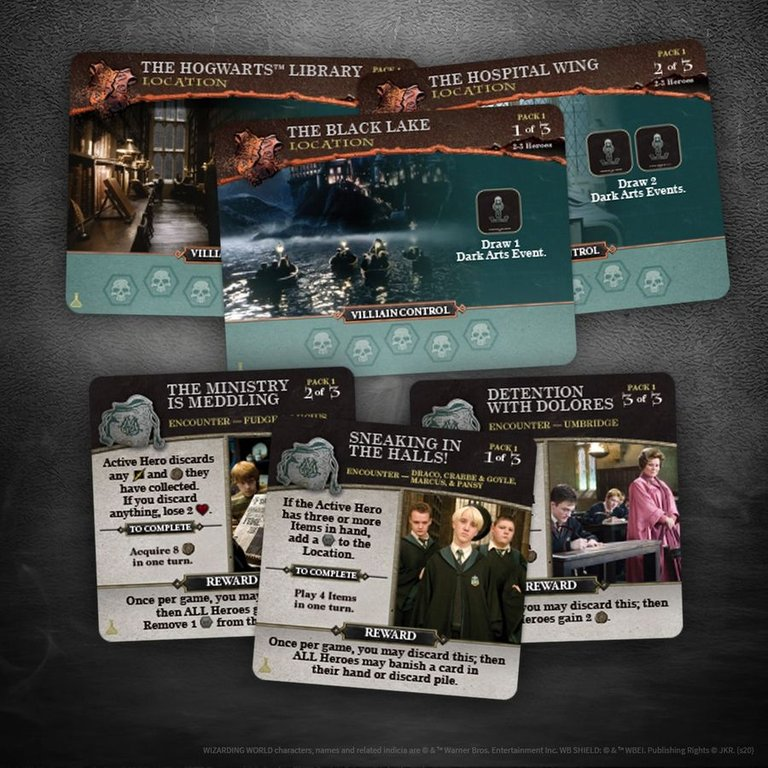 Harry Potter: Hogwarts Battle - The Charms and Potions Expansion cards