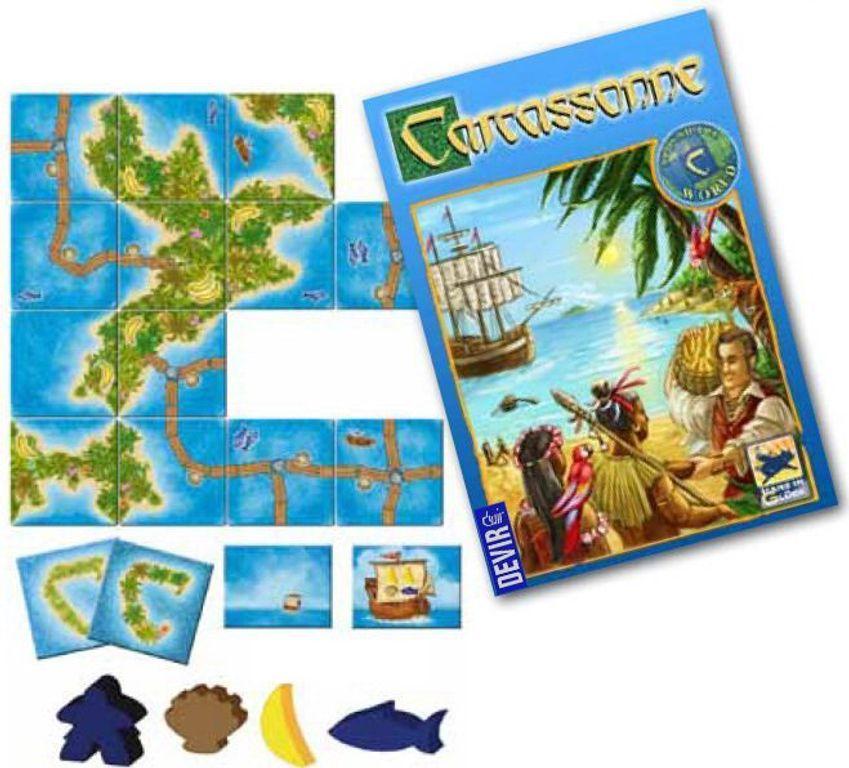 Carcassonne: South Seas components