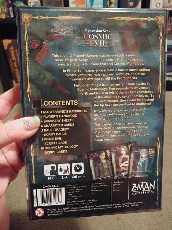 Tragedy Looper: Cosmic Evil back of the box