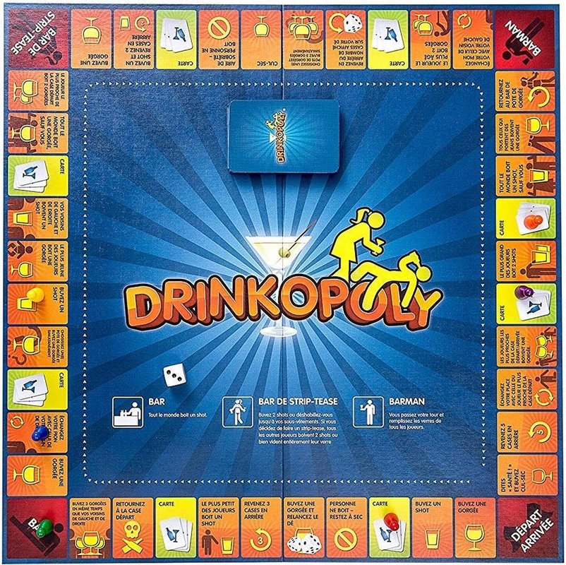 Drinkopoly game board