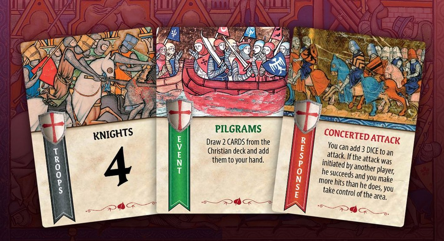 Crusader Kingdoms: The War for the Holy Land cards