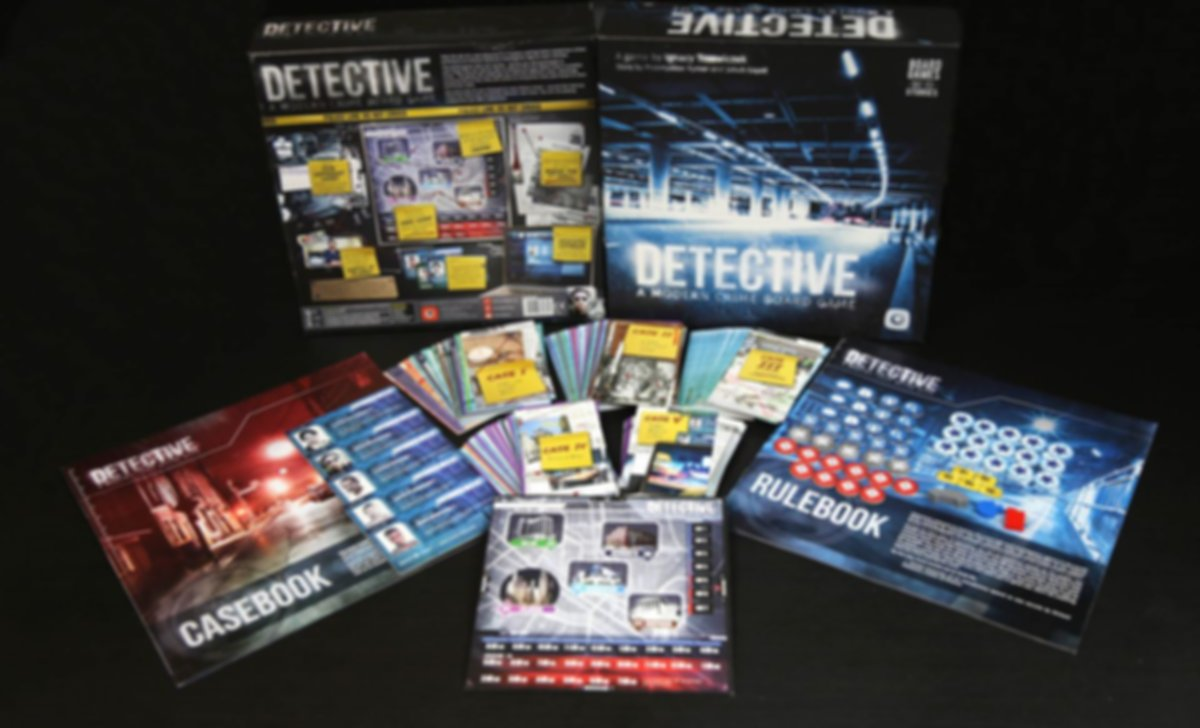 Detective: A Modern Crime Board Game components