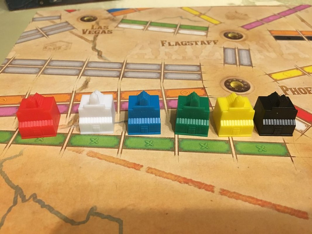 Ticket to Ride Map Collection: Volume 6 - France & Old West componenten