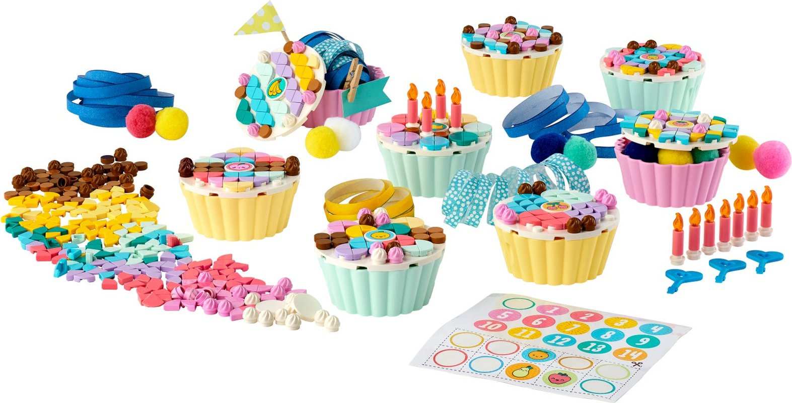 Creative Party Kit components