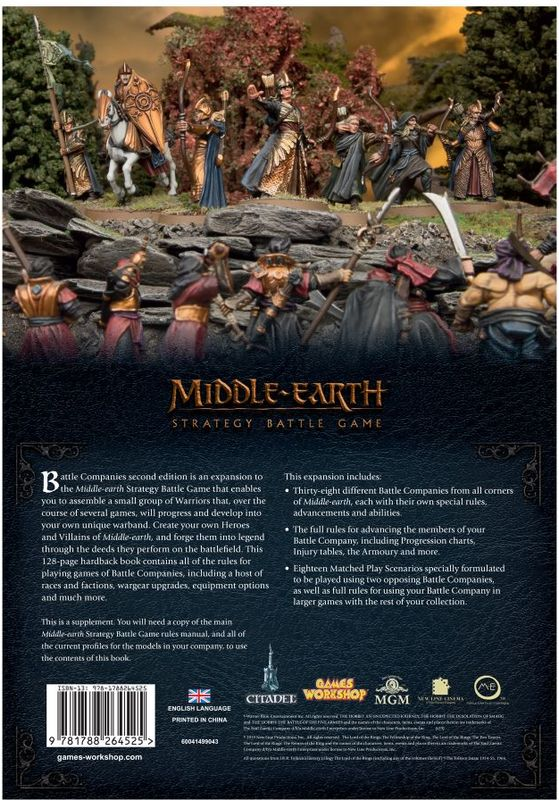 The Lord of The Rings : Middle Earth Strategy Battle Game - Battle Compagnies back side