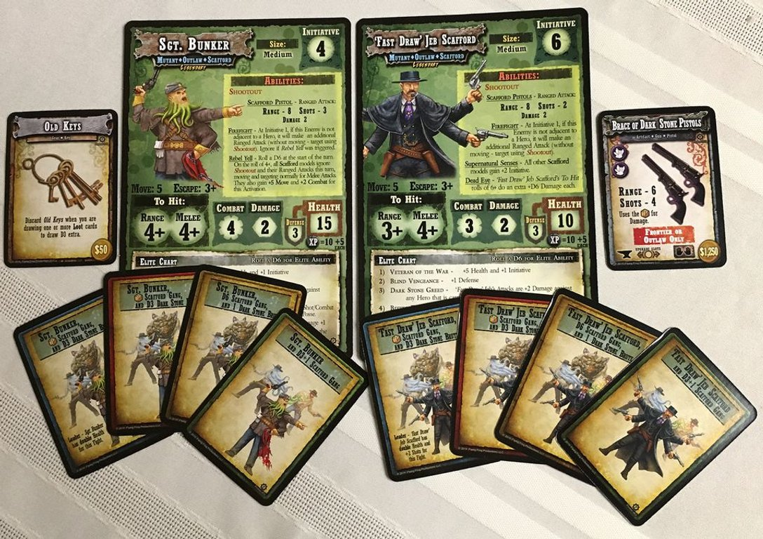 Shadows of Brimstone: The Scafford Gang Deluxe Enemy Pack components