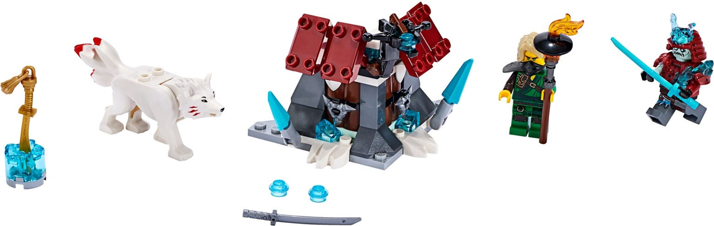 LEGO® Ninjago Lloyd's Journey components