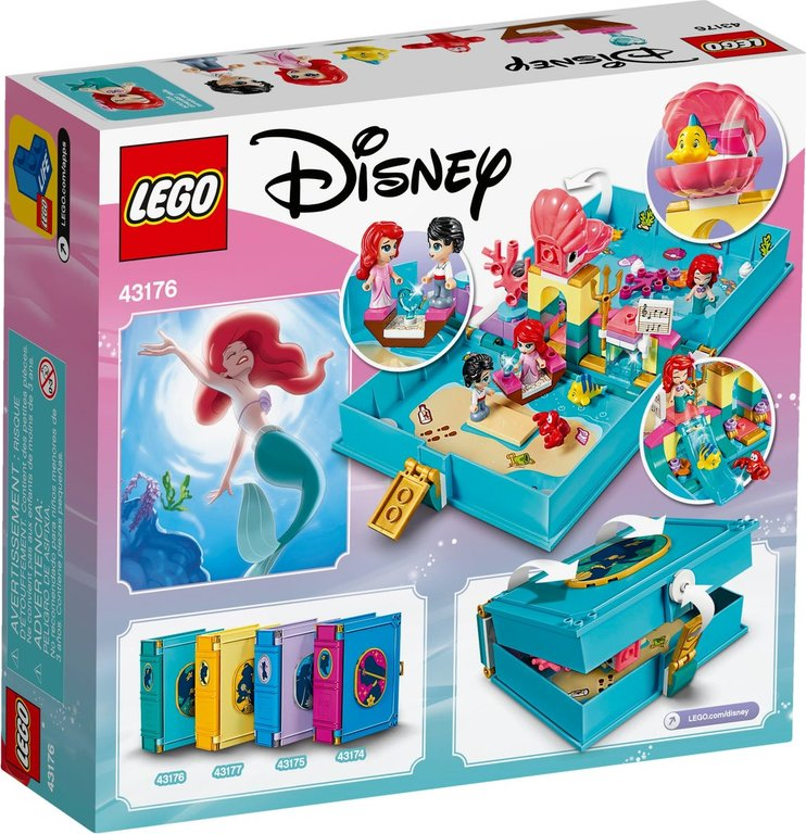 LEGO® Disney Ariel's Storybook Adventures back of the box