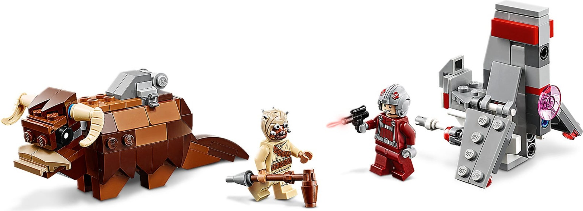 T-16 Skyhopper™ vs Bantha™ Microfighters components