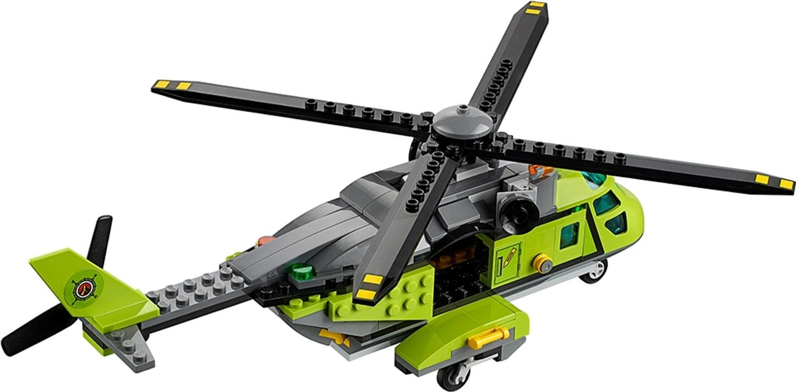 LEGO® City Volcano Supply Helicopter back side