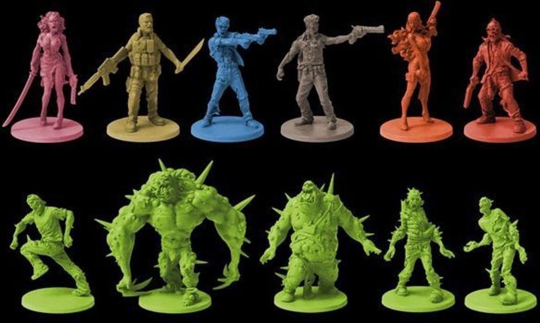 Zombicide: Toxic City Mall miniatures