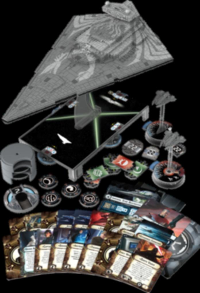 Star Wars: Armada - Chimaera Expansion Pack components