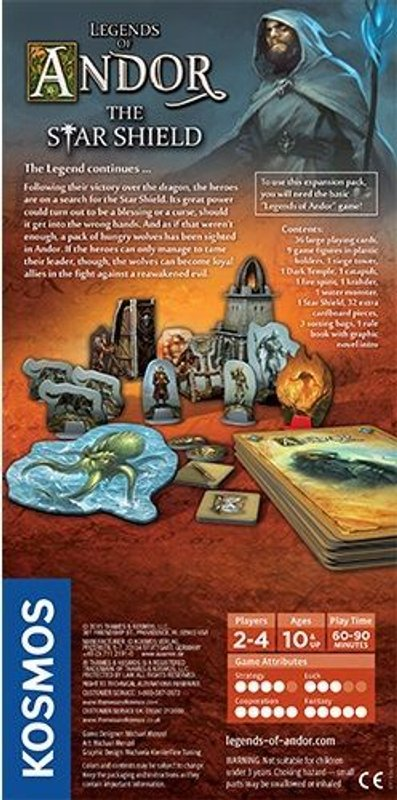 Legends of Andor: The Star Shield back of the box