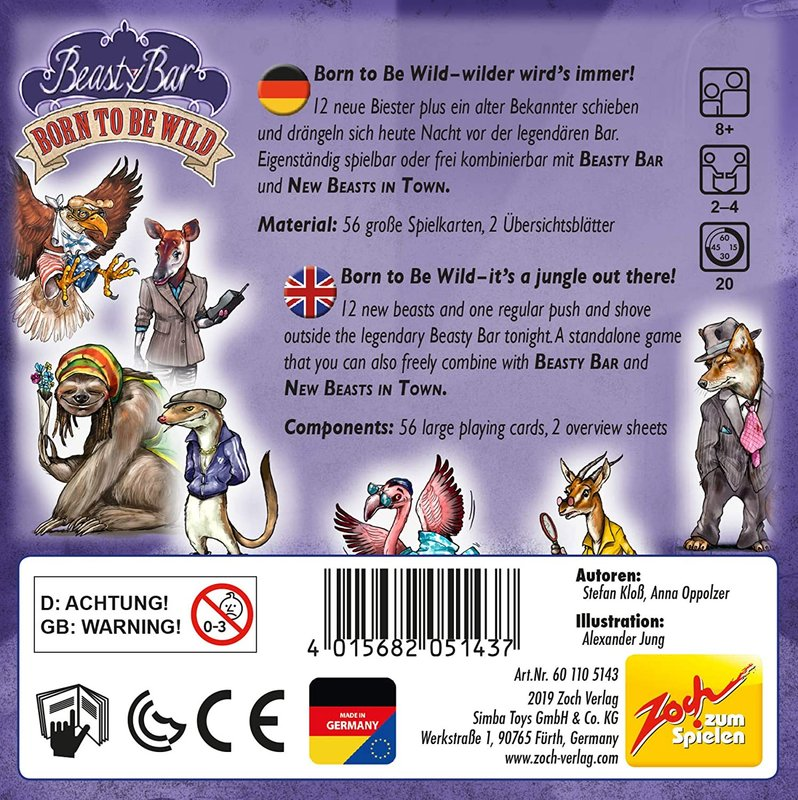 Beasty Bar 3: Born to Be Wild back of the box