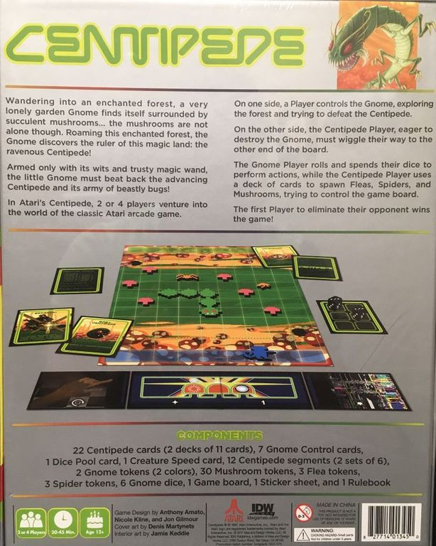 Centipede back of the box